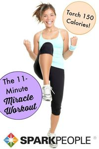 Torch 150 calories and get your heart pumping with this quick and sweaty workout!