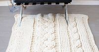 Ravelry: Chunky Double Cable Crochet Blanket / Rug (blanket007) pattern by Erin Black