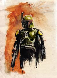 A few days ago, my friend Adrienne sent me a link to a pretty awesome gallery featuring the Star Wars-themed paintings of Redditor terry cook1, saying that I wo