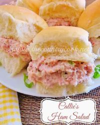 The Country Cook: Callie's Ham Salad {perfect for picnics, baby and bridal showers, or anytime!}