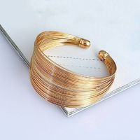 MULTILAYER METAL WIRE CUFF BANGLE $19.99