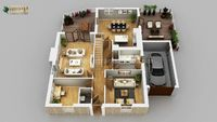 3D Rendering Of House Plans By Architectural Rendering Firms,Lisbon-Portugal
