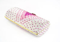 Women Beautiful Crystal Applique Clutch DIY Evening bag
