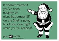 Am I the only one who thinks the Elf on a Shelf looks a bit creepy?