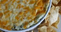 Baked Spinach Dip #shop #cbias... this could be made healthier by using light sour cream and low fat cream cheese! Looks yummy!