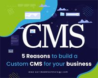 Are you confused about the selection of CMS? What CMS you need to use, custom CMS or ready-made CMS? Here we will tell you 5 reasons to build a Custom CMS for your business