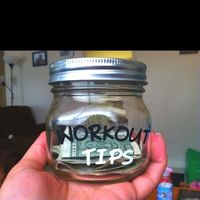 Love this Idea! - Tip yourself $1 each time you workout and after every 100 workouts, buy something you deserve. Might have to do this as a New Years!! Ha good motivation :)