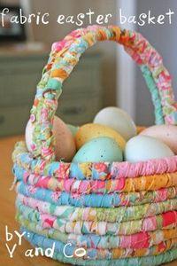 <3 Fabric Easter basket #diy #crafts