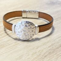 Jewelry for Men, Leather Wristband, Brown Leather Gifts for Men $28.00