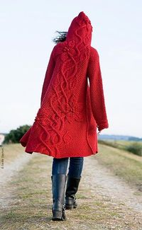 What I'm knitting right now (in white). It's slow going, but worth it! Hope to finish before next June.