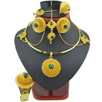 Fashion Ethiopian Jewelry Sets with Hair Piece $35.00