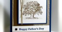 Father's Day card in Crumb Cake, Midnight Muse, Soft Suede, Very Vanilla w twine and brad