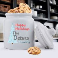 Personalized Ceramic Holiday Cookie Jars are the classic heavy, tightly sealed ceramic jars. The classic shape and smooth, clean lines make this canister suitable for any décor, from country to modern.Ceramic jar holds cookies, candy, nuts, flour, sugar,...