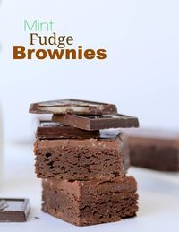 Mint Fudge Brownies -- one bowl, from scratch. You'll never use a box again!!