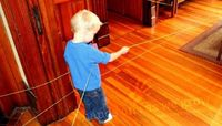 Indoor String Scavenger Hunt - - Pinned by #PediaStaff. Visit http://ht.ly/63sNt for all our pediatric therapy pins