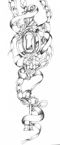 Image detail for -key and lock tattoo by ~vixygoldustpixy on deviantART
