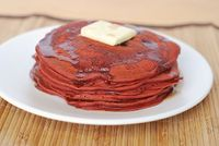 Red Velvet Pancakes #valentinesday