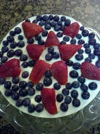 gluten free cheesecake with fruit!