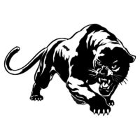 19.5*13.6CM Fiery Wild Panther Hunting Car Body Decal Car Stickers Motorcycle Decorations Black/Silver C9-2149 $16.90