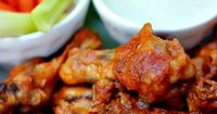 Buffalo Chicken Wings with Blue Cheese Dip This recipe looks like a keeper. Plus I have everything it needs