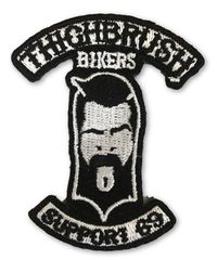 "THIGHBRUSH® BIKERS - ""SUPPORT 69"" Patch - Black and White (Sew-on)"