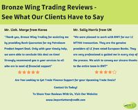 This infographic presented by us talks about Bronze Wing Trading Reviews which we received from our clients for their successful transactions. We, the Bank Instruments Providers serve the trade finance needs of our clients and assist them to conclude thei...