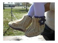 Crochet Pattern for Booties ShaDaisy Booties by ThePatternParadise, $4.99