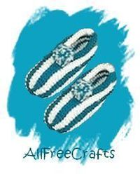 Classic cosy striped slippers pattern using two colors of worsted.
