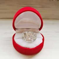 Greek Delta Sigma Theta Sorority DST Letter Finger Ring Jewelry With Box