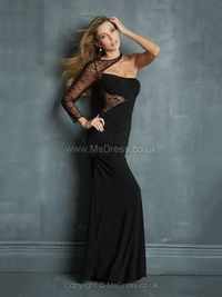 Sheath/Column One Shoulder Silk-like Satin Floor-length Beading Evening Dresses