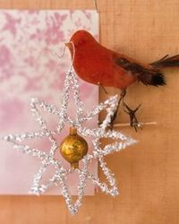 These sparkly ornaments are easy to make and sure to stand out on any tree.