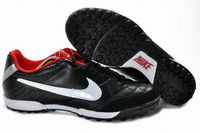 Nike Tiempo Natural IV TF Shoes Black Red White