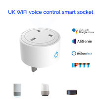110-220V Smart WIFI Socket British Standard Socket WiFi Smart App Remote Control Smart Home Voice Socket