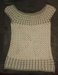 G-Squared Boat Neck Top Free Crochet Patter