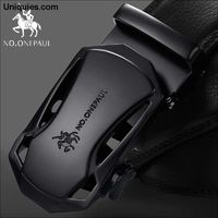 Automatic Buckle Genuine Leather Belt Men's Belts Cow Leather Belts For Men $26.79