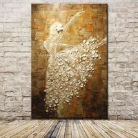 Mintura Ballet Dancer Hand Painted Abstract Canvas $89.99