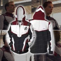 The Avengers 4 Avengers: Endgame the Advanced Tech Suits White Suit Cosplay Zip Up Hoodie Jacket $34.99