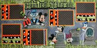 Disney Haunted Mansion Scrapbook Page Layout - News - Bubblews