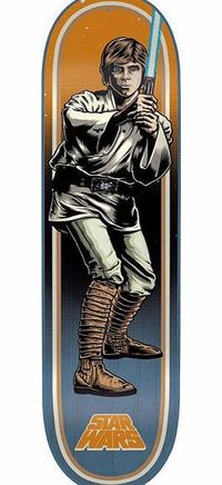 Santa Cruz X Star Wars Luke Skywalker Shred Santa Cruz x Star Wars deck; Iconic Luke Skywalker graphic; The shred ready deck comes in regular shrink-wrap packaging; 7-Ply Maple construction; Full of Jedi steeze; Concave: Medium; Width: 7.8; Len http://www...
