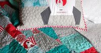 Brrr! Quilt and Pillow by teaginny, via Flickr I really like this line of fabric.