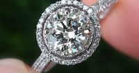 Ring on Etsy: 1.5 carat Round - Halo - Pave - Antique Style.