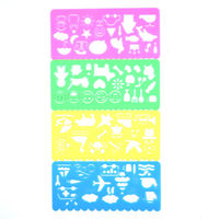 Pack of 4 Assorted Images Stencils. Party Bag Fillers and Back To School Stationery £4.69