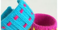 Toilet Roll Bracelets - Simple yarn wrapping and weaving craft fun for kids   MollyMooCrafts.com
