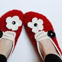 crochet slippers - free tutorial