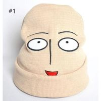One Punch Man Saitama Cosplay Acrylic Fibers Hat with Smiley Face for Couples $29.00
