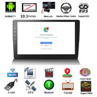 10.1 Inch 2DIN 1080P Android 7.1 WiFi GPS Bluetooth Mirror Link Car Stereo Radio MP5 Player