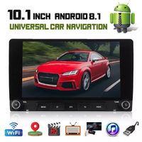 10.1 Inch 2DIN for Android 8.1 Car Stereo Radio MP5 Player Quad Core 1+16G GPS WIFI FM with Dual Knob Support DVR Rear Camera
