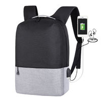 14 inch Laptop Bag with USB Charging Port Students School Bags Anti-theft Backpack for Men