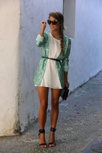 I don't even know what this is....a really long cardigan? part of the dress? I don't care, its sparkly and i want it