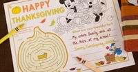 Mickey & Friends Thanksgiving Placemat | Spoonful